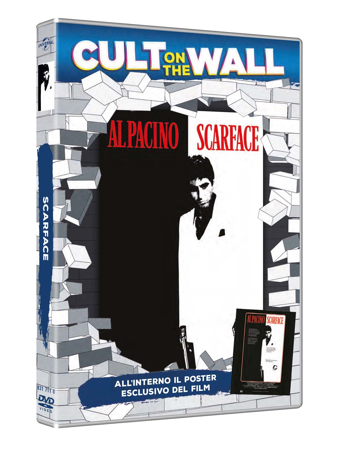 SCARFACE (CULT ON THE WALL) (DVD+POSTER) (DVD)