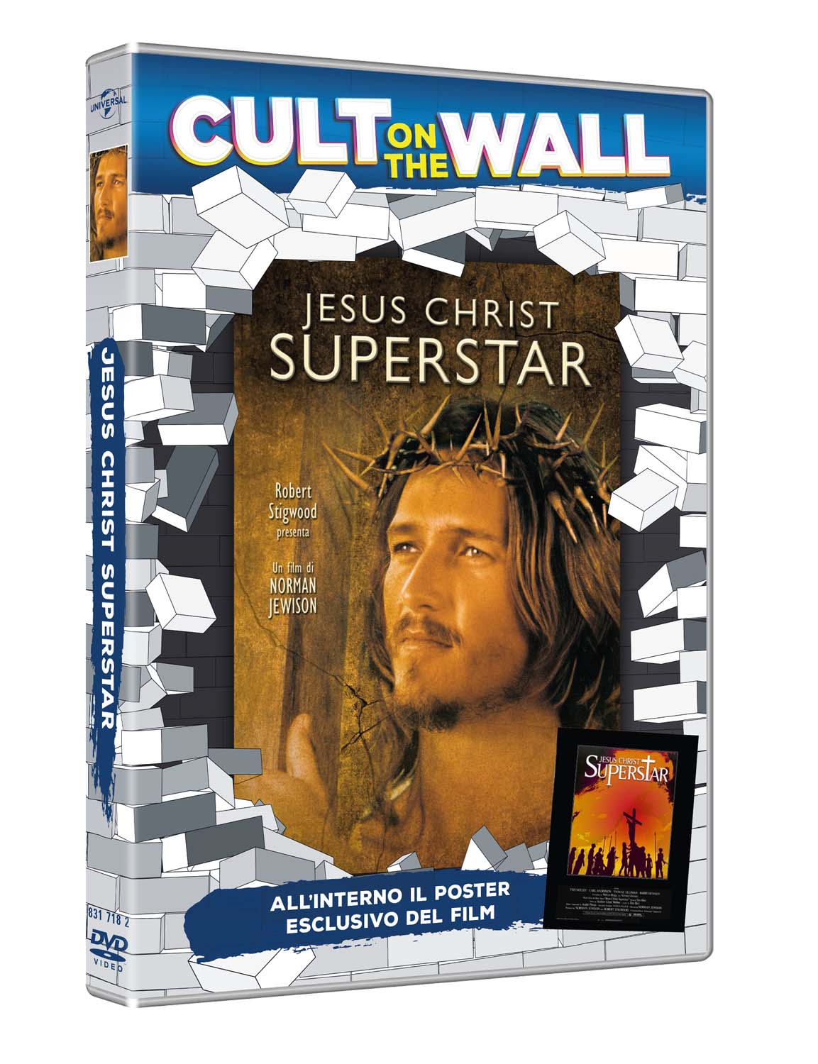 JESUS CHRIST SUPERSTAR (CULT ON THE WALL) (DVD+POSTER) (DVD)
