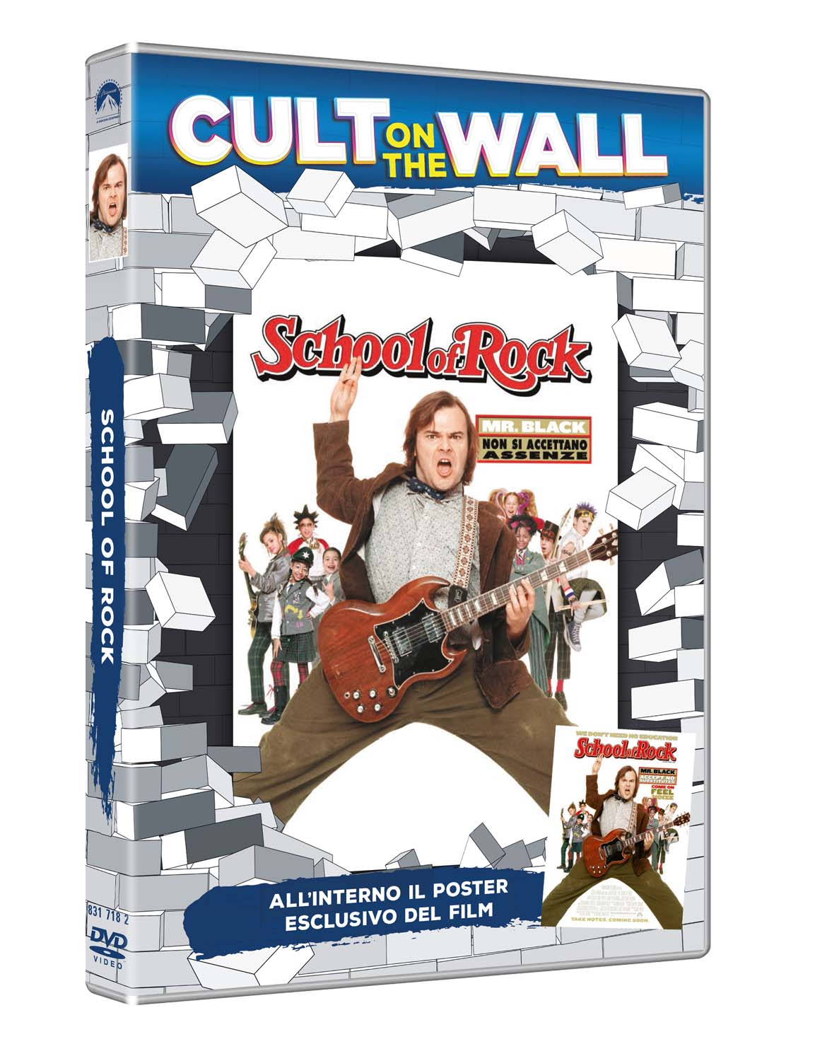 SCHOOL OF ROCK (CULT ON THE WALL) (DVD+POSTER) (DVD)