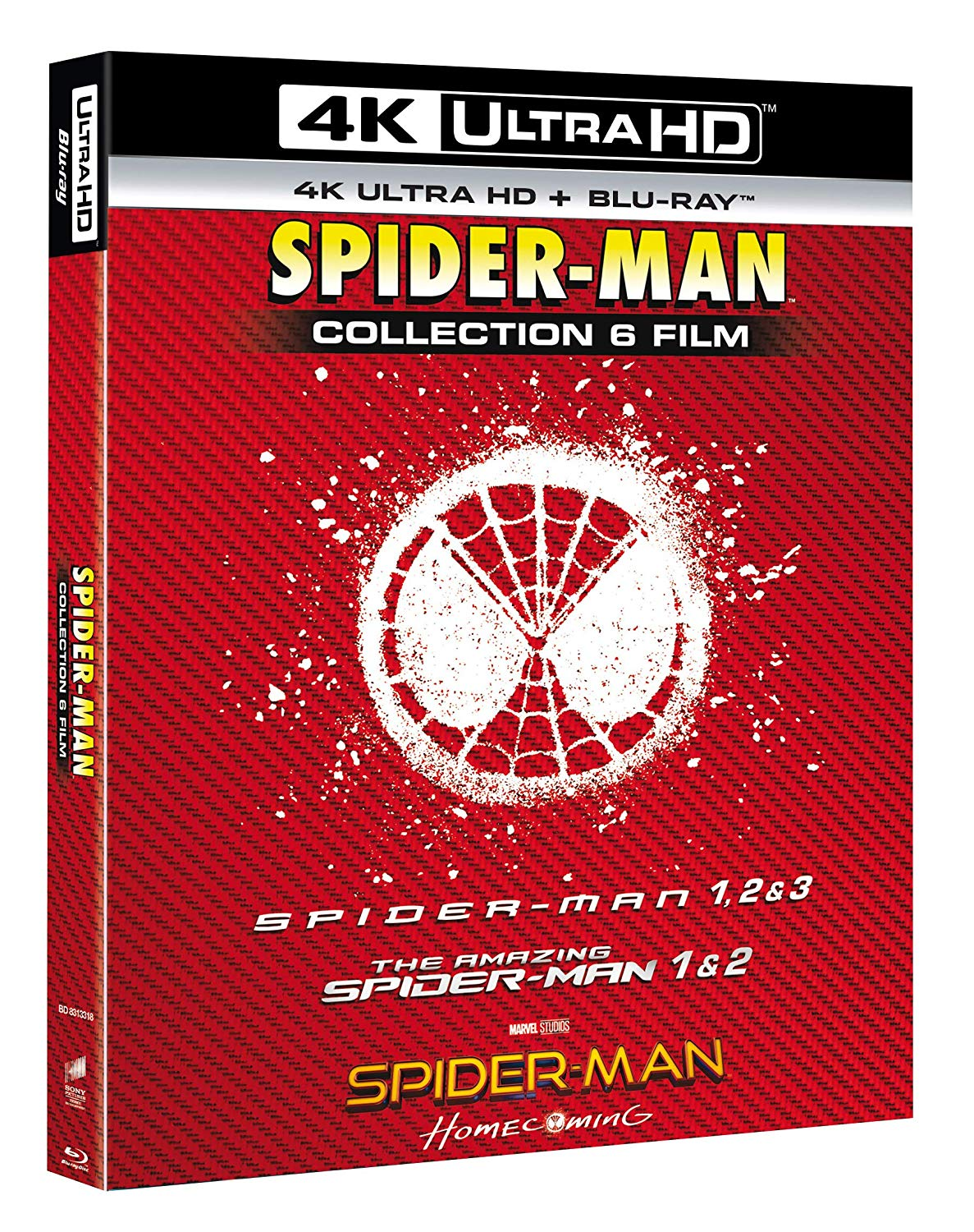 COF.SPIDER-MAN 4K COLLECTION (6 BLU-RAY 4K ULTRA HD+6 BLU-RAY) (