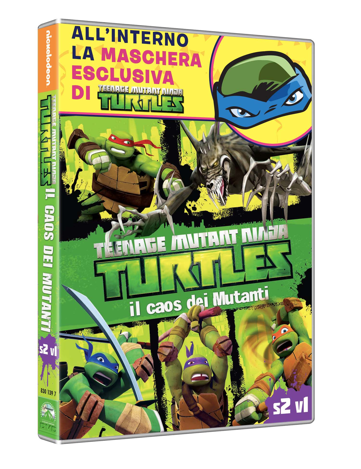 TEENAGE MUTANT NINJA TURTLES - IL CAOS DEI MUTANTI (DVD+MASCHERA