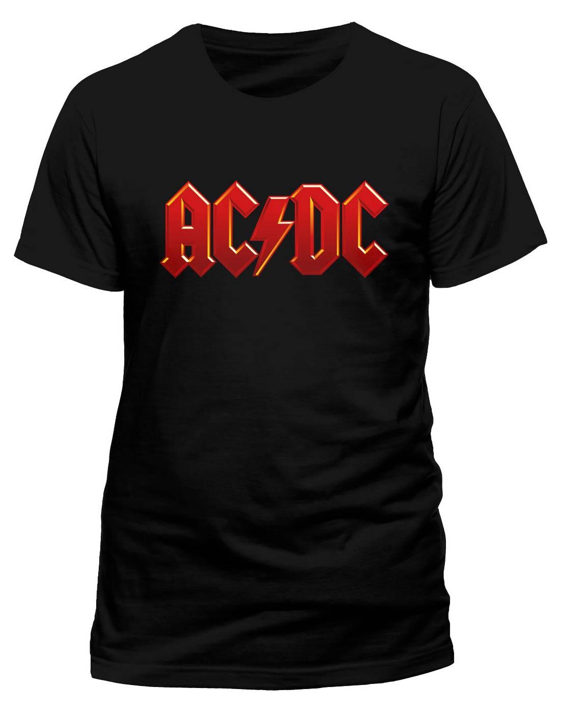 AC/DC - RED LOGO (T-SHIRT UNISEX TG. S)