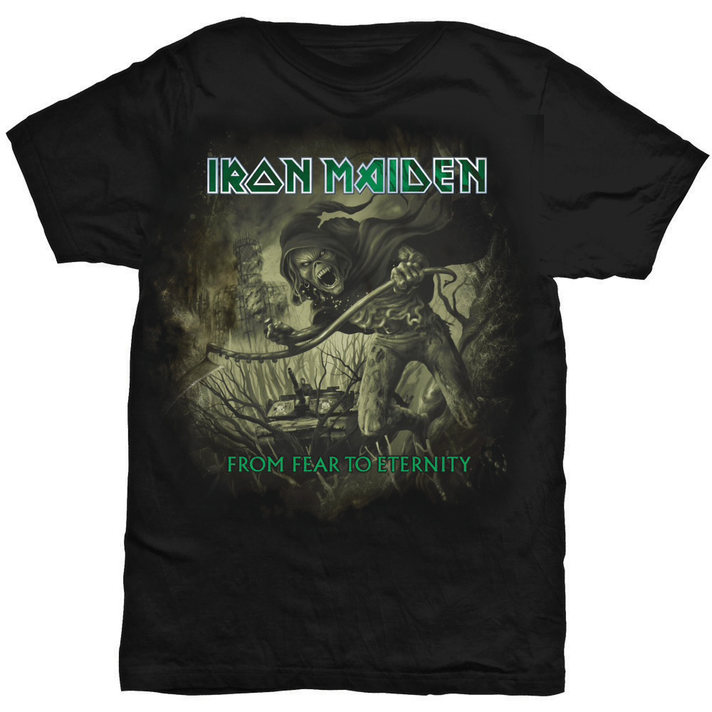 IRON MAIDEN: FROM FEAR TO ETERNITY DISTRESSED (T-SHIRT UNISEX TG