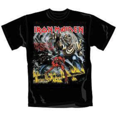 IRON MAIDEN - NUMBER OF THE BEAST BLACK (T-SHIRT UNISEX TG. XL)