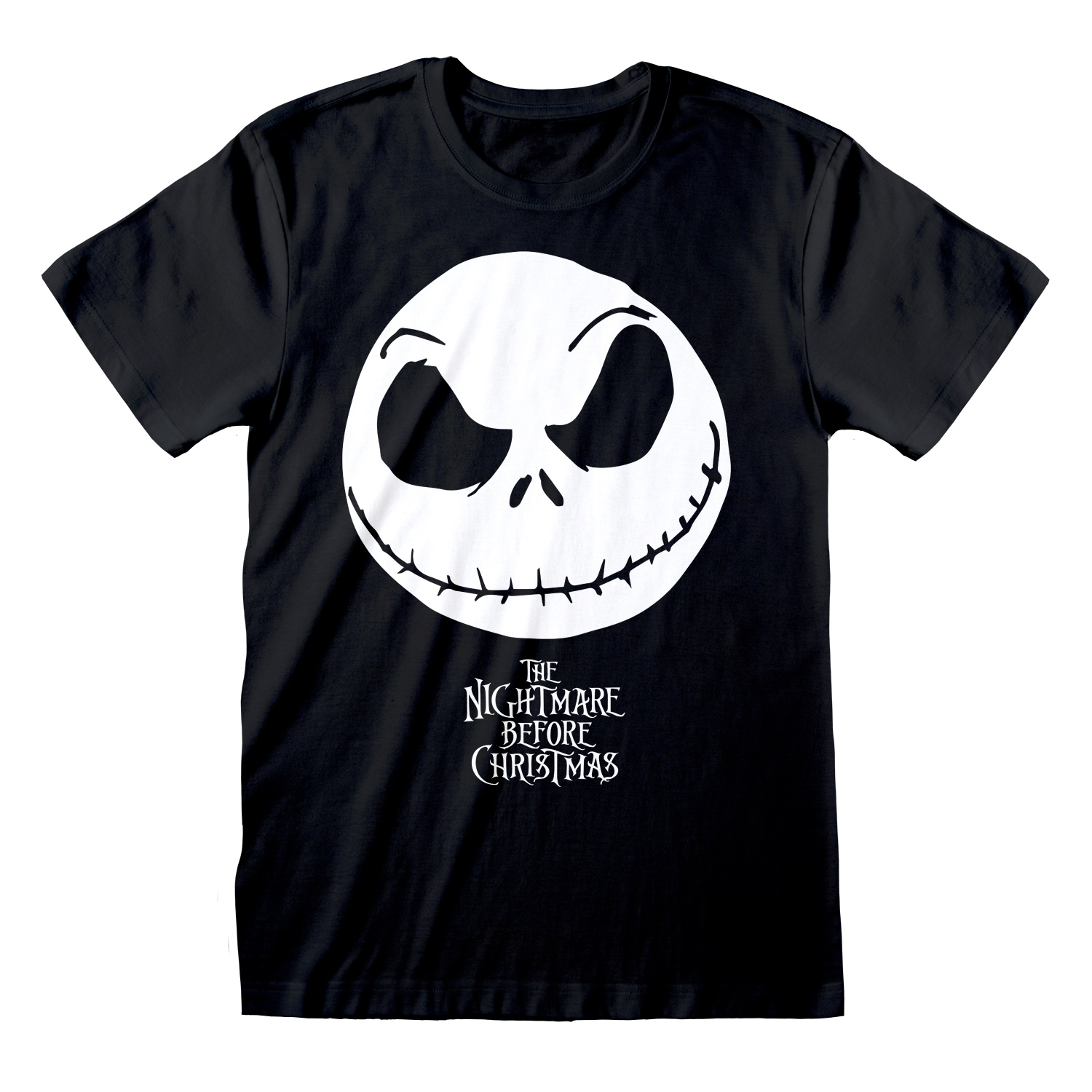T-SHIRT NIGHTMARE BEFORE CHRISTMAS: JACK FACE TG. M