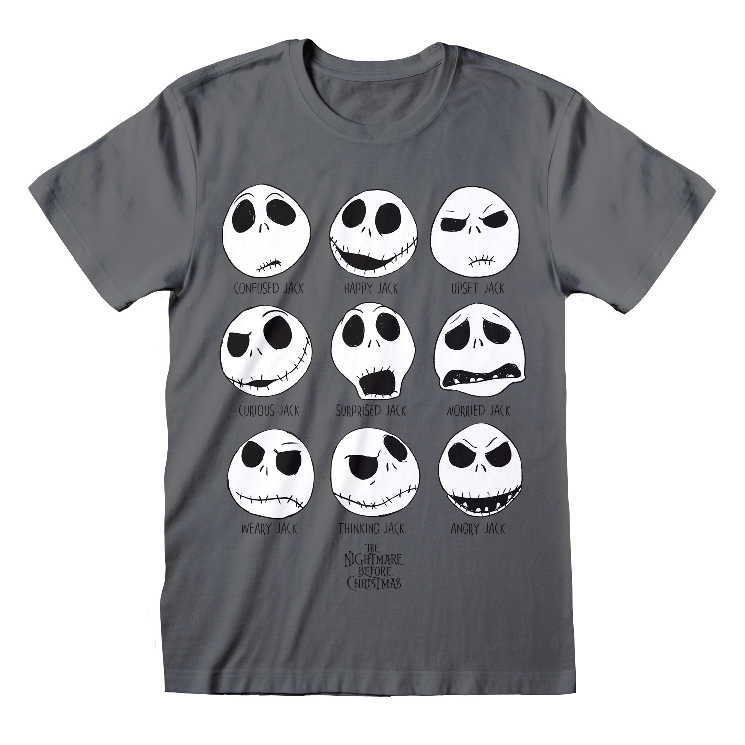 T-SHIRT NIGHTMARE BEFORE CHRISTMAS: MANY FACES TG. S