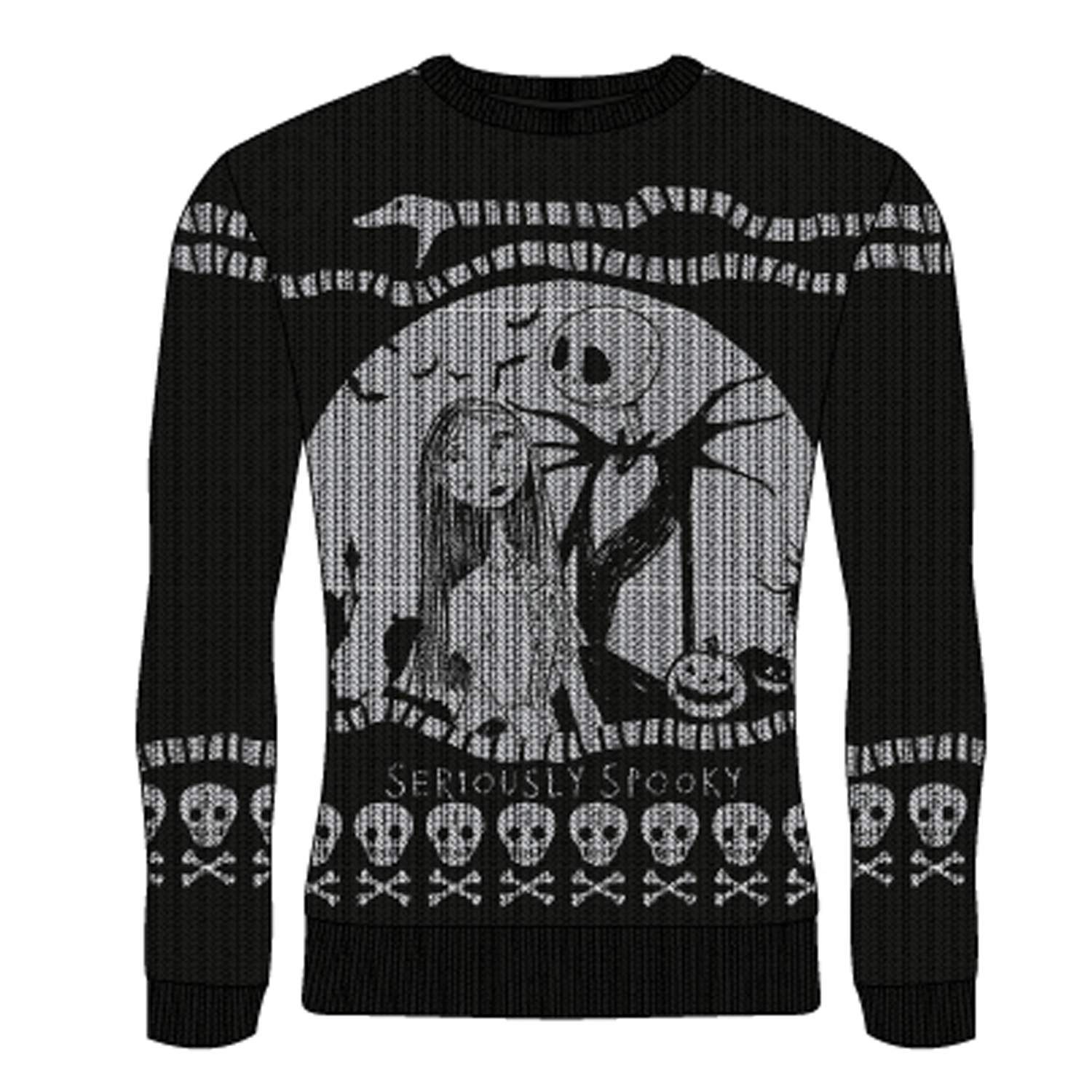 MAGLIONE UNISEX NIGHTMARE BEFORE CHRISTMAS: SERIOUSLY SPOOKY TG