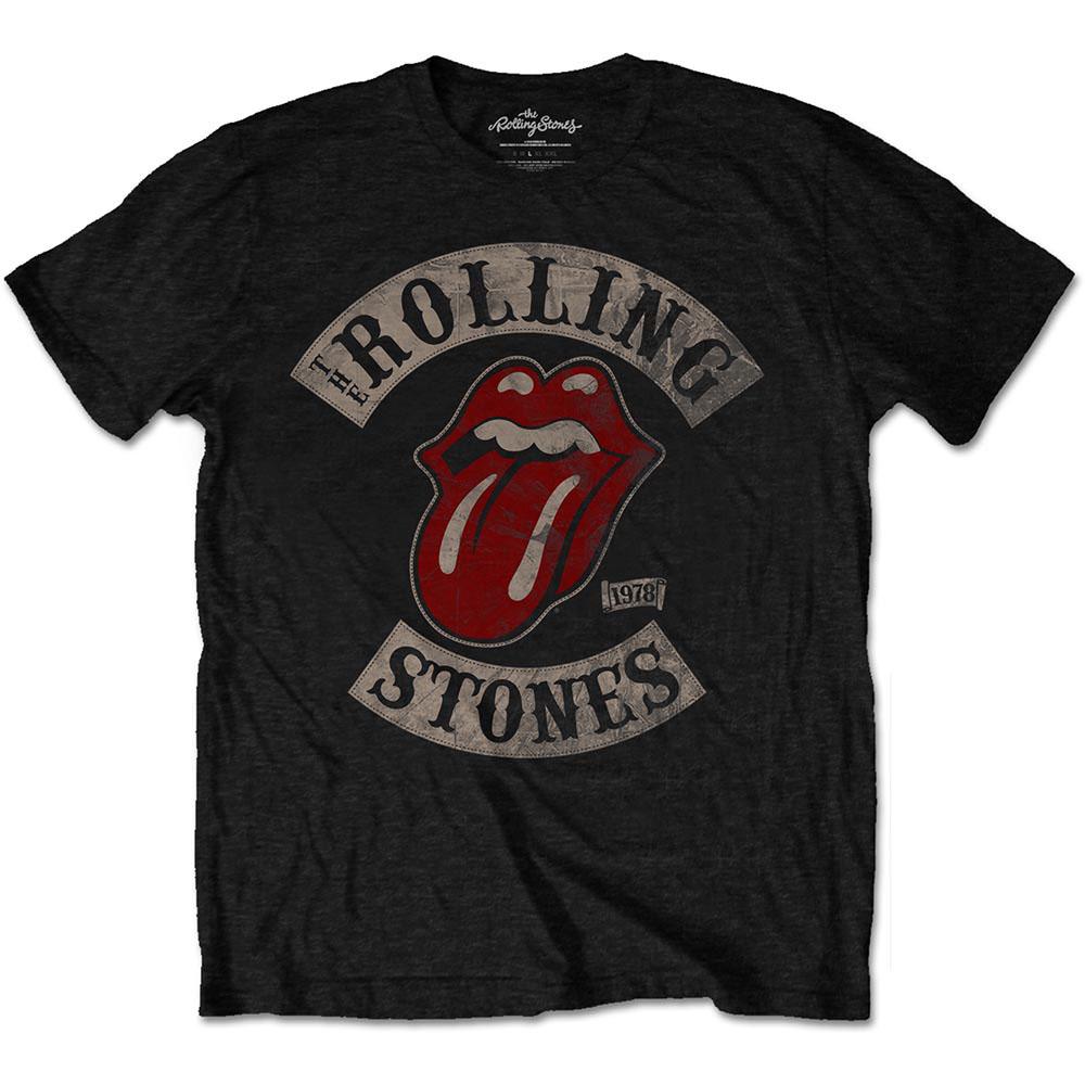 ROLLING STONES (THE): TOUR 78 BLACK (T-SHIRT UNISEX TG. L)
