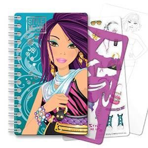 STYLE ME UP - FASHION DESIGNER NOTE PADS (STICKERS AND STENCILS