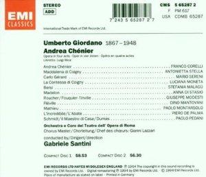 GIORDANO: ANDREA CHENIER -2CD (CD)