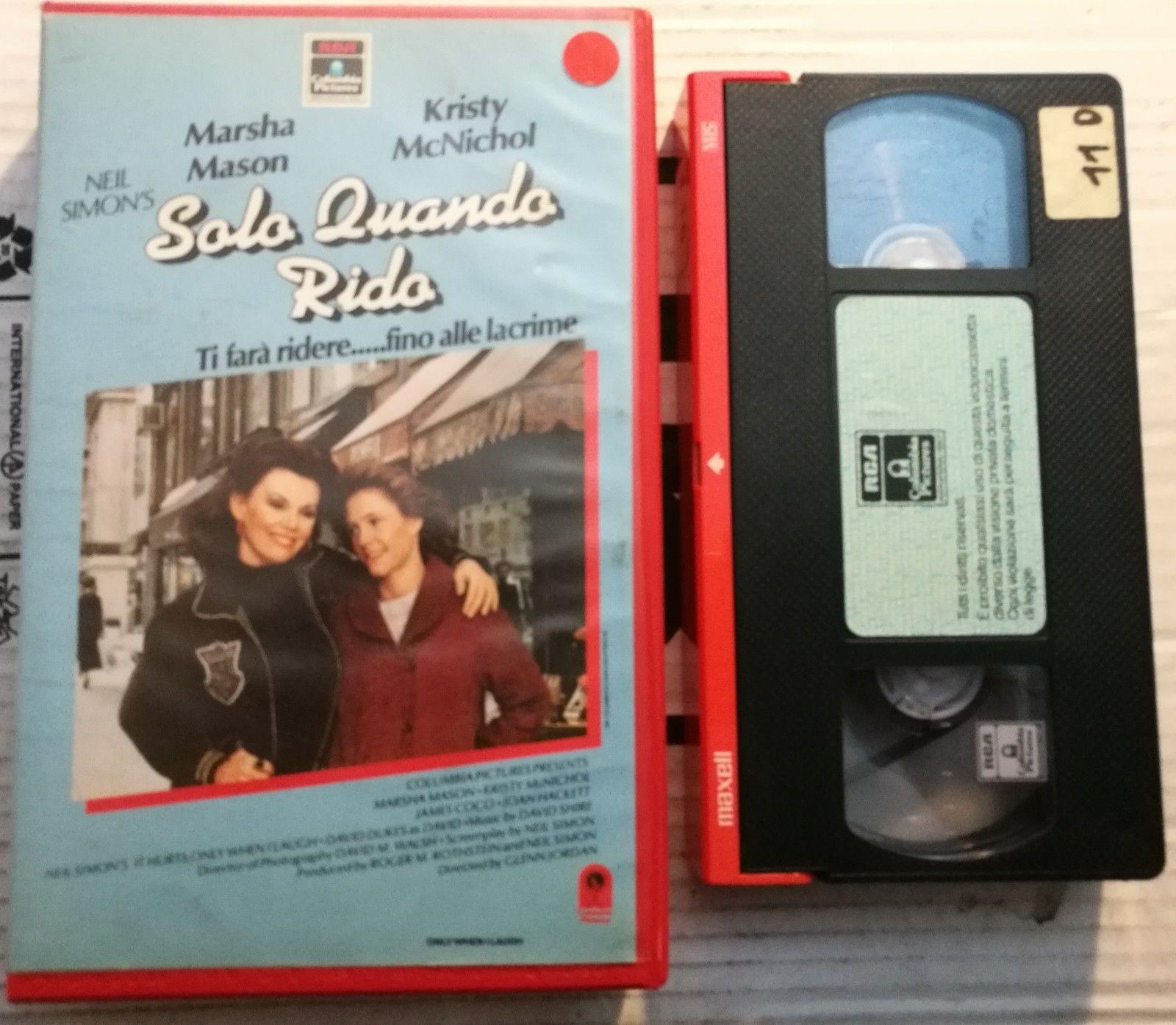 SOLO QUANDO RIDO - VHS EX NOLEGGIO (VHS)