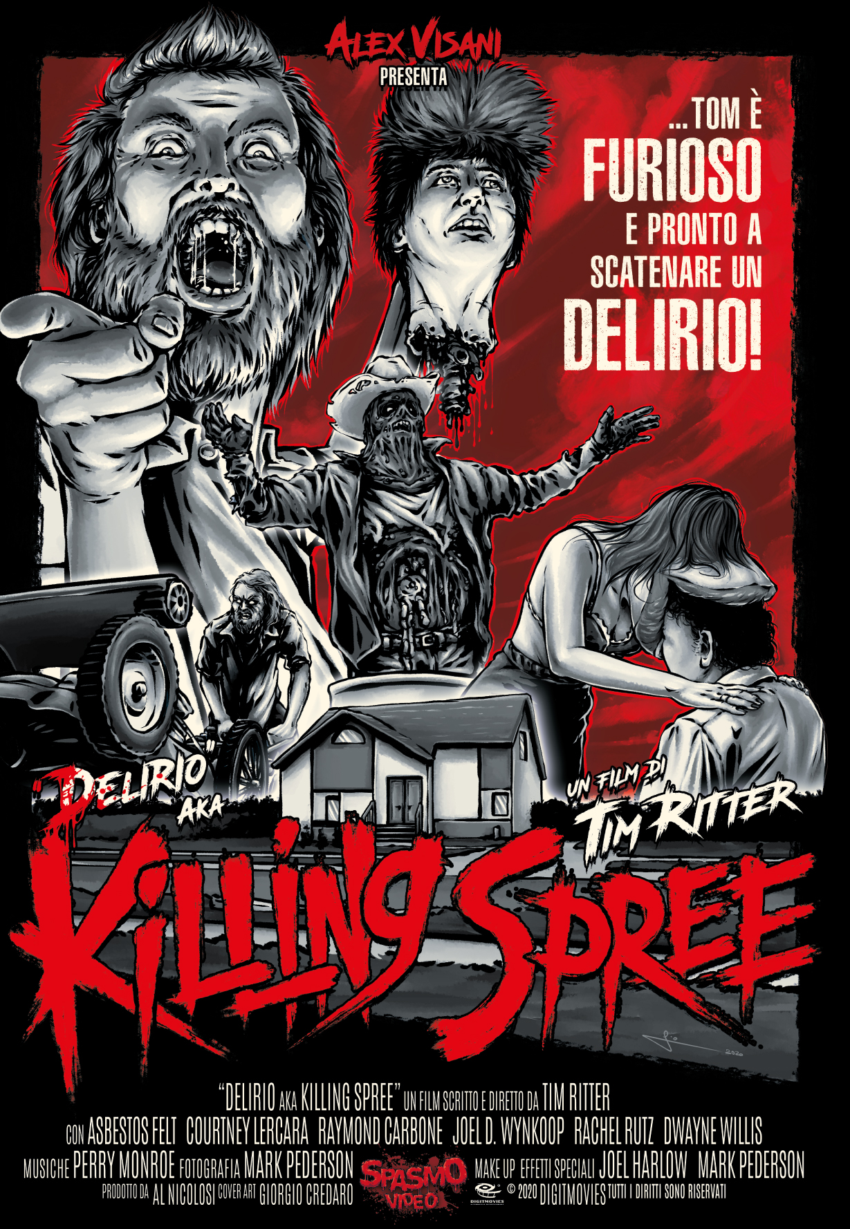 KILLING SPREE AKA DELIRIO (DVD)