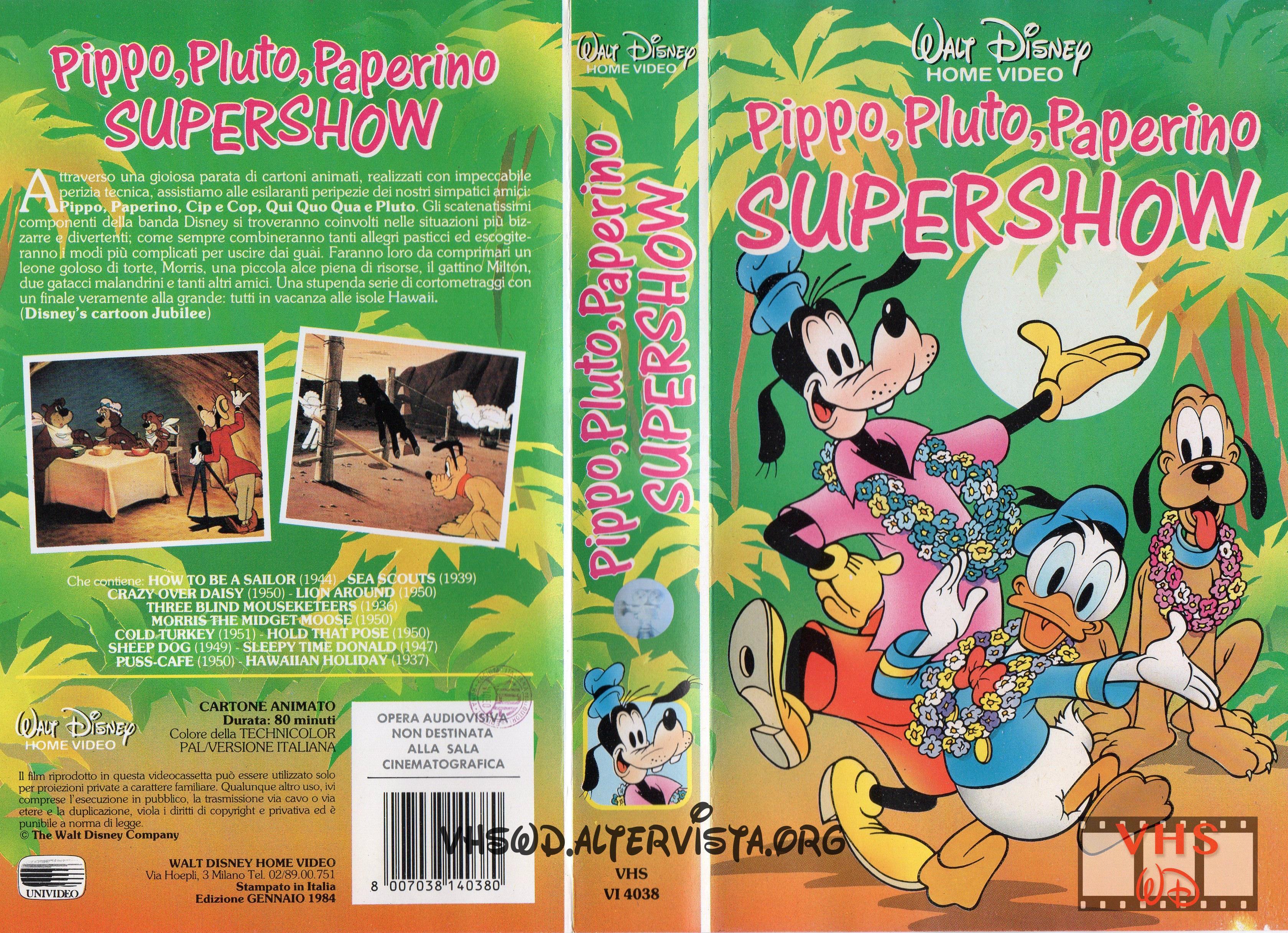 PIPPO, PLUTO, PAPERINO SUPERSHOW (SECONDA RIEDIZIONE) (VHS)