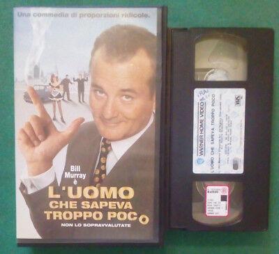 L'UOMO CHE SAPEVA TROPPO POCO - VHS USATA EX NOLEGGIO (VHS)