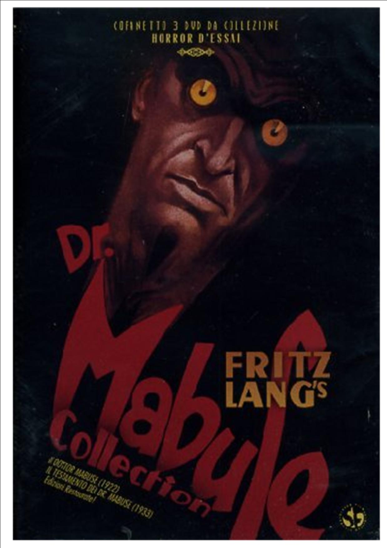 COF.DR. MABUSE COLLECTION FRITZ LANG (3DVD) (DVD)