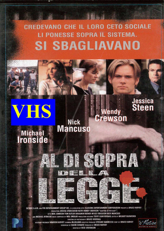 AL DI SOPRA DELLA LEGGE - USATO EX NOLEGGIO (VHS)