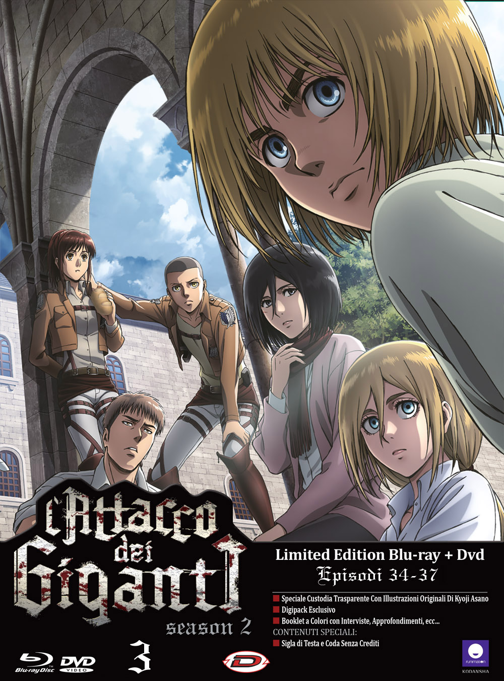 COF.L'ATTACCO DEI GIGANTI - STAGIONE 02 #03 (EPS 09-12) (LDT ED) (BLU-RAY+DVD)
