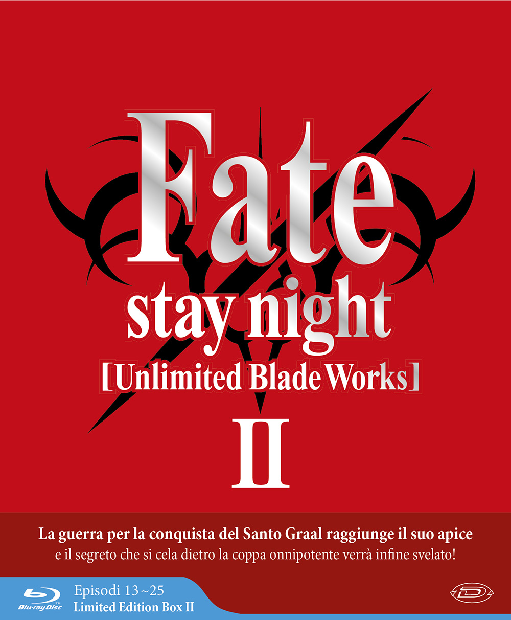 COF.FATE/STAY NIGHT - UNLIMITED BLADE WORKS - STAGIONE 02 (EPS 13-25) (3 BLU-RAY) (LIMITED EDITION BOX)