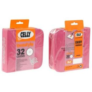 BAG - PORTA 32 CD/DVD -FUXIA
