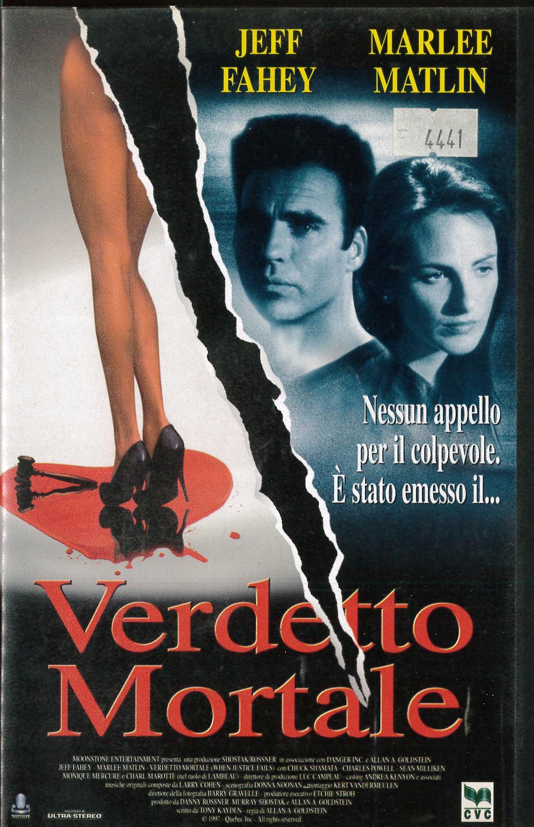 VERDETTO MORTALE - VHS EX NOLEGGIO (VHS)