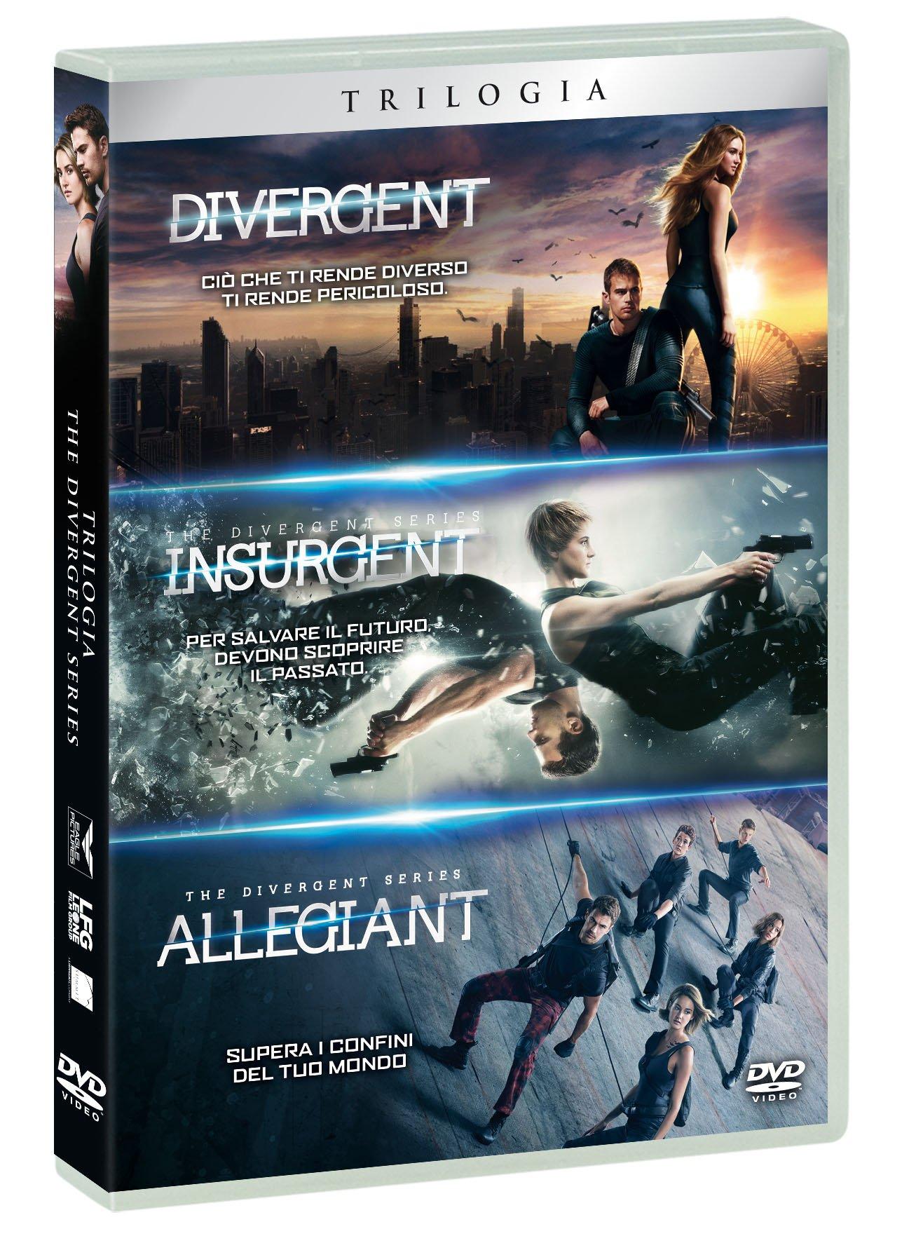 COF.DIVERGENT TRILOGIA (3 DVD) (DVD)