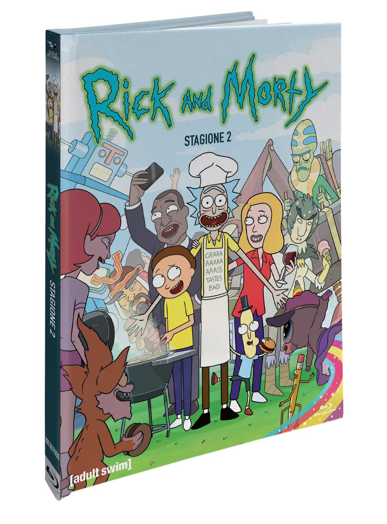 COF.RICK AND MORTY - STAGIONE 02 (MEDIABOOK COMBO CE) (BLU-RAY+2 DVD)