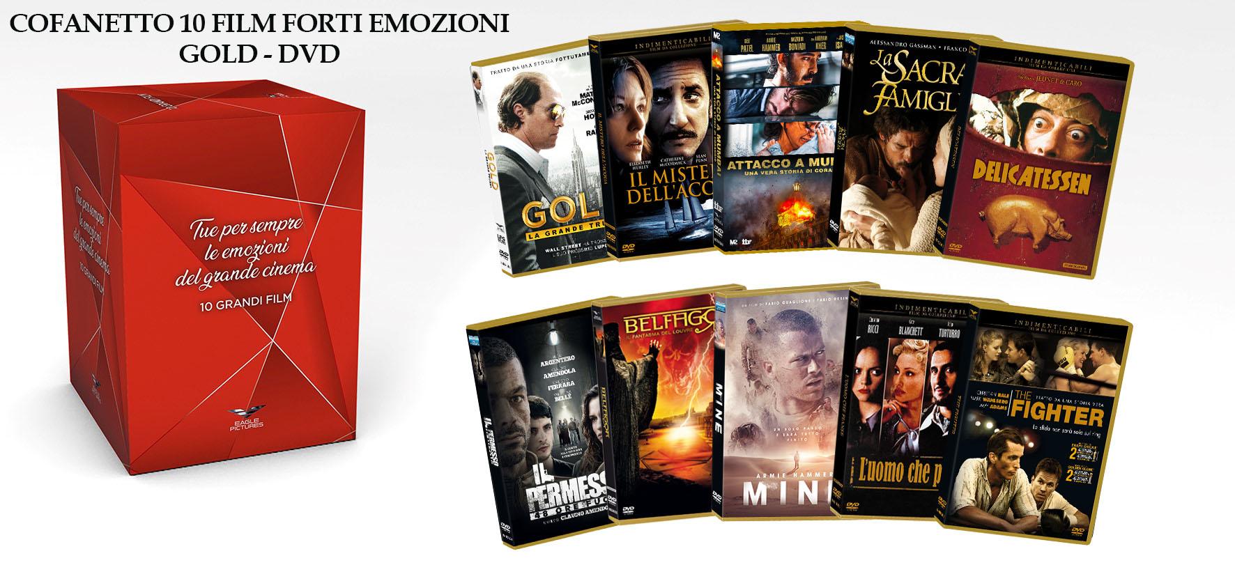 COF.FORTI EMOZIONI GOLD COFANETTO (10 DVD) (DVD)