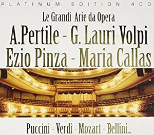 LE GRANDI ARIE DA OPERA (CALLAS,PINZA,VOLPI,PERTILE) -4CD (CD)