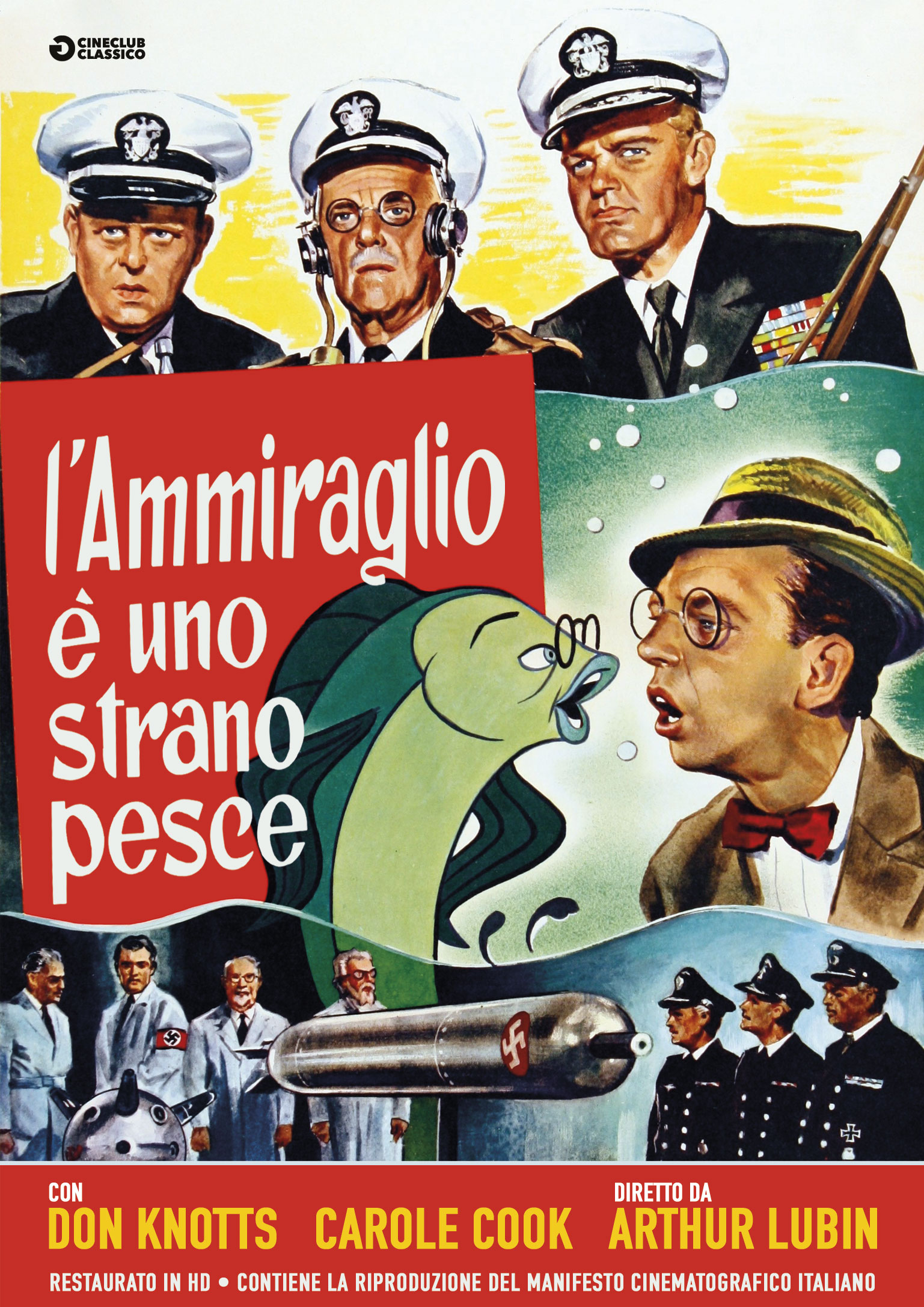 L'AMMIRAGLIO E' UNO STRANO PESCE (RESTAURATO IN HD) (DVD+POSTER