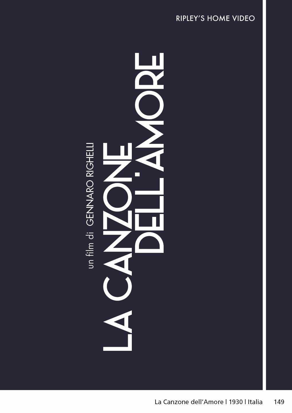 LA CANZONE DELL'AMORE (DVD)
