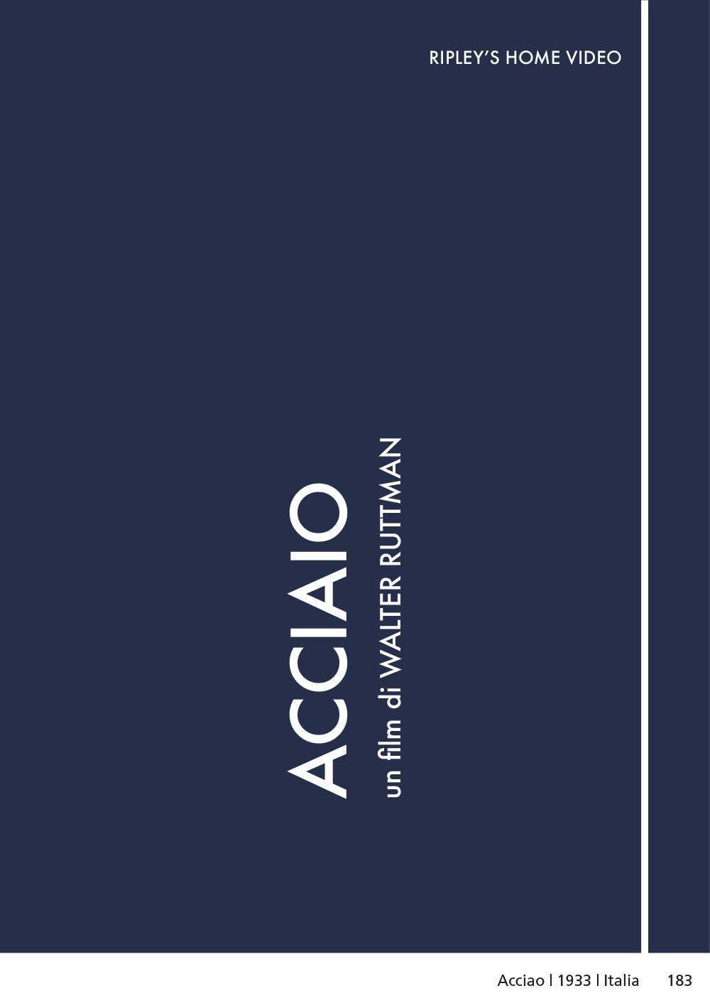 ACCIAIO (DVD)