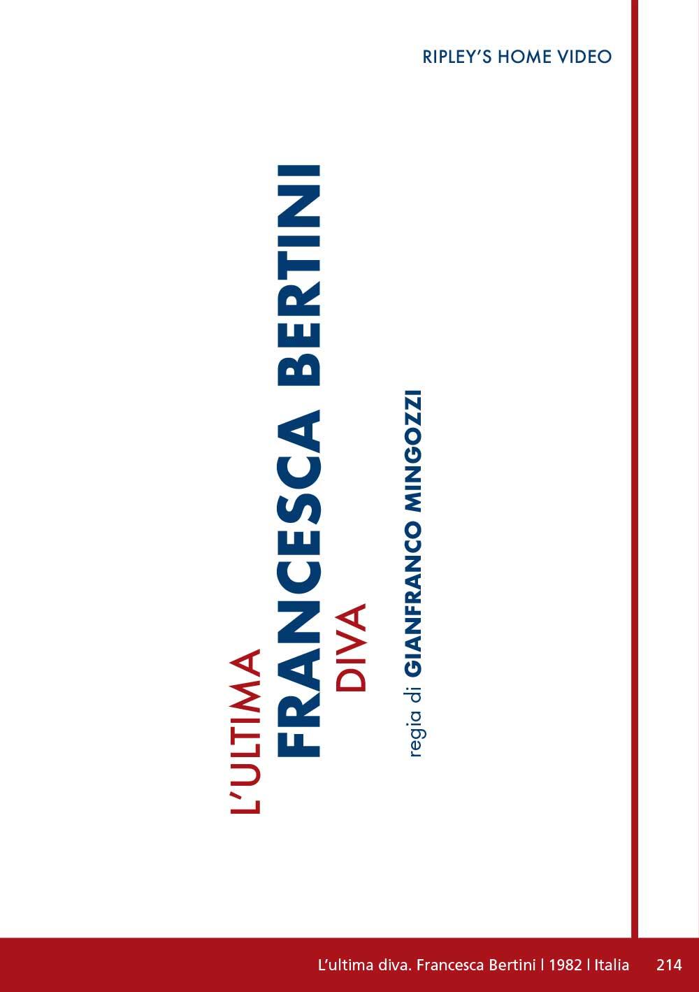 L'ULTIMA DIVA - FRANCESCA BERTINI (DVD)