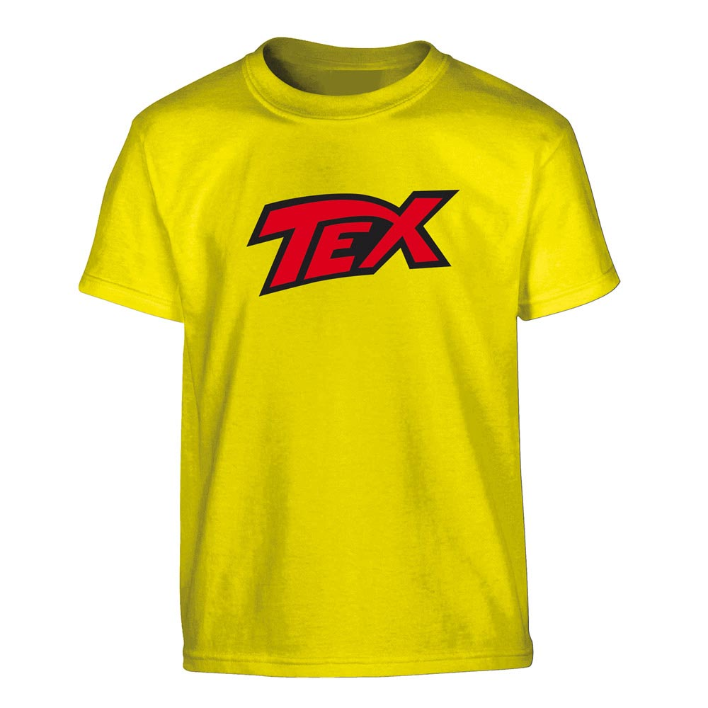 TEX - GIALLA LOGO ROSSO (T-SHIRT UNISEX TG. M)
