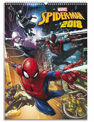 CALENDARIO 2018 29X42 SPIDERMAN