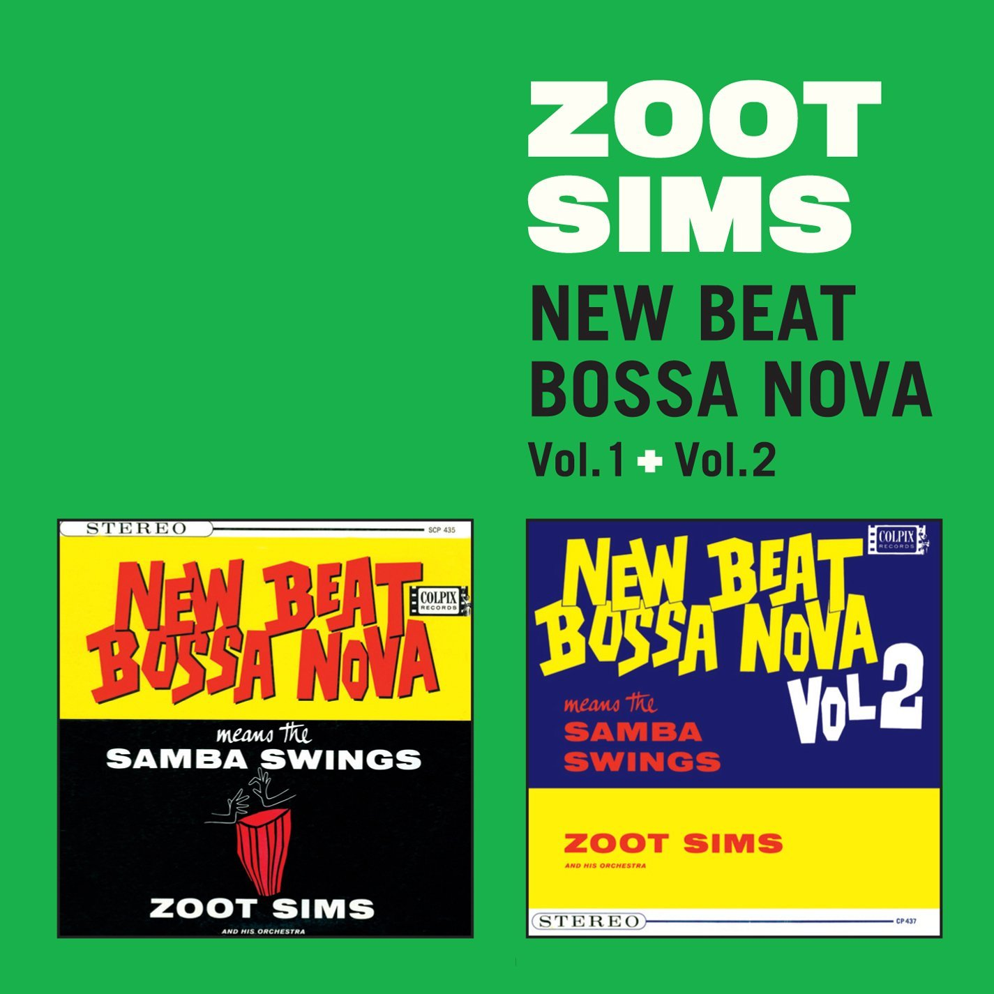 ZOOT SIMS - NEW BEAT BOSSA NOVA VOL 1 & 2 (CD)