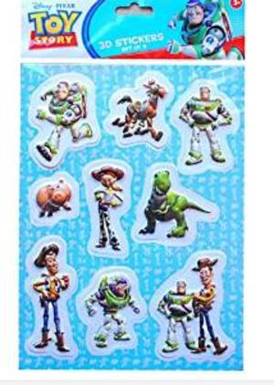TOY STORY - STICKERS 3D - FORMATO GRANDE