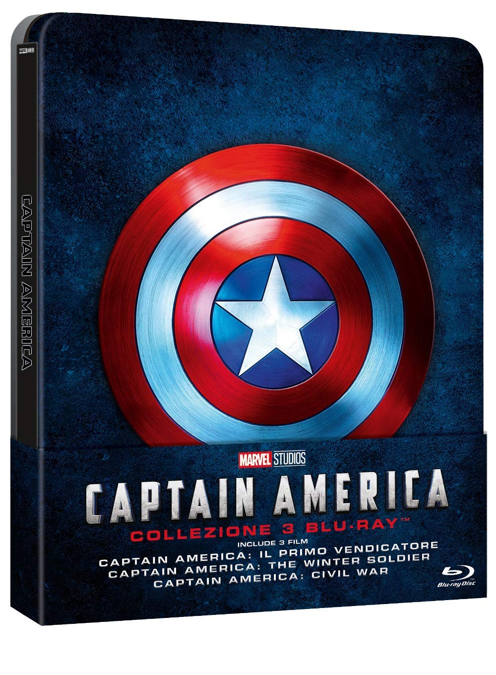 COF.CAPTAIN AMERICA TRILOGY (3 BLU-RAY) (STEELBOOK)