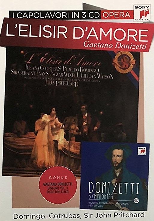 DONIZZETTI: L'ELISIR D'AMORE - I CAPOLAVORI IN 3 CD (CD)