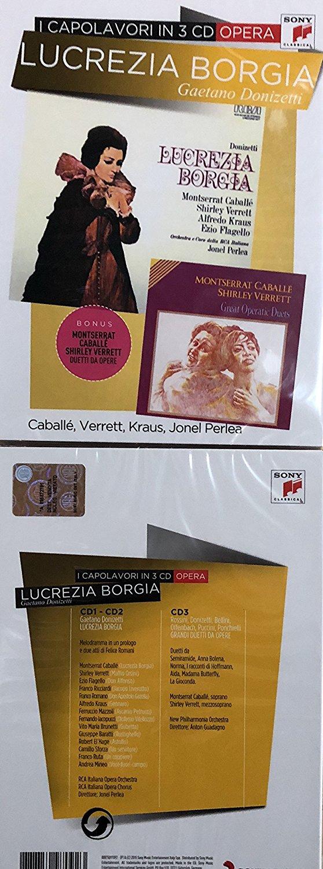 LUCREZIA BORGIA I CAPOLAVORI CD (CD)