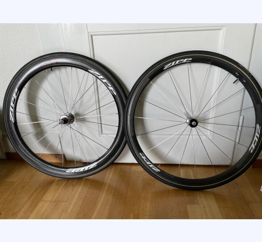 Zipp Laufräder Firecrest 303 (hinten) und 202 (vorne)