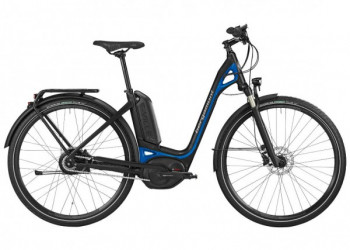 Occasion, Bergamont, E-Ville, Elite, schwarz/blau, 52cm, Neuer 500Wh Akku