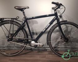 Tour de Suisse Vélo de Ville Nexus 8vit avec Option: Couleur Noir Brillant (Noir Brillant)  (53)