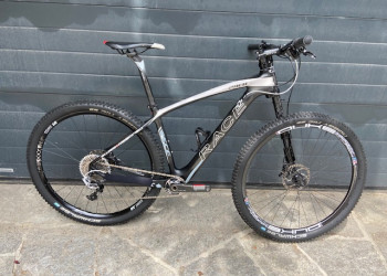 Fabien Bike VELO Race Hardtail Carbone, taille M  (Noir-blanc)  (Unitaire)