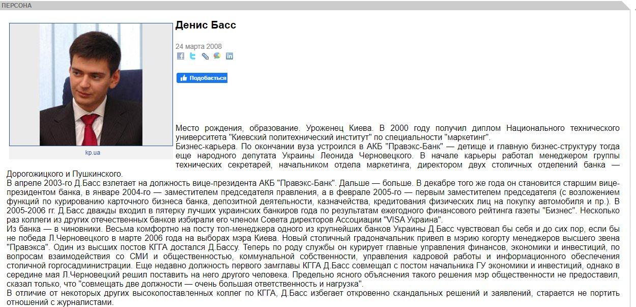 Денис Яковлевич Басс - биография, досье, компрометирующие данные