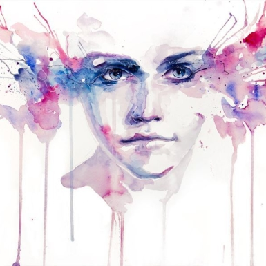 stunning-eyes-pink-blue-watercolor-portrait-painti