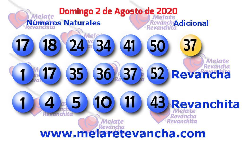 Melate del 2020-08-02