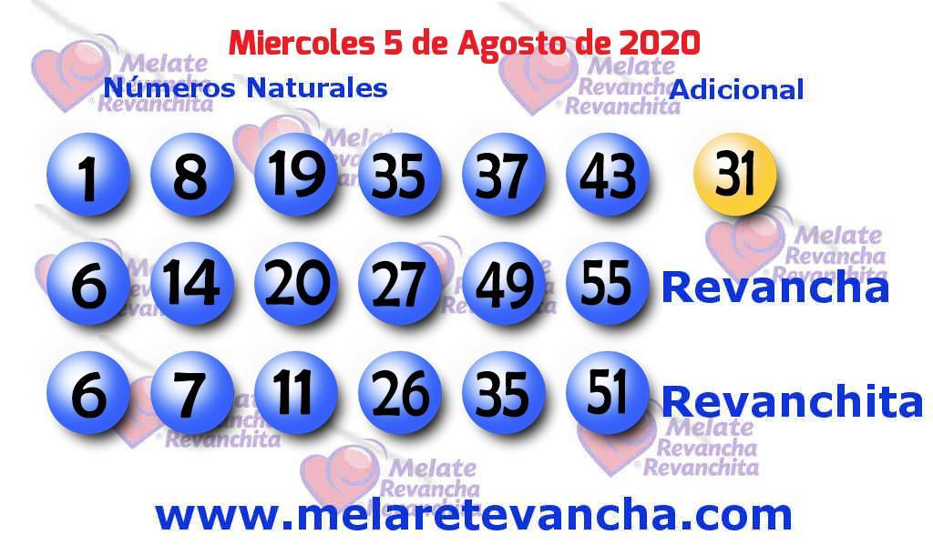 Melate del 2020-08-05
