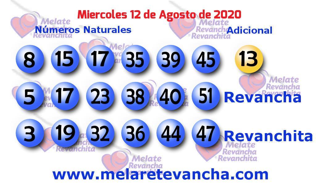 Melate del 2020-08-12