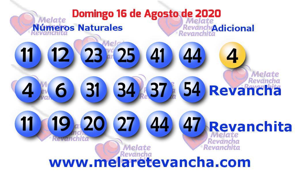 Melate del 2020-08-16