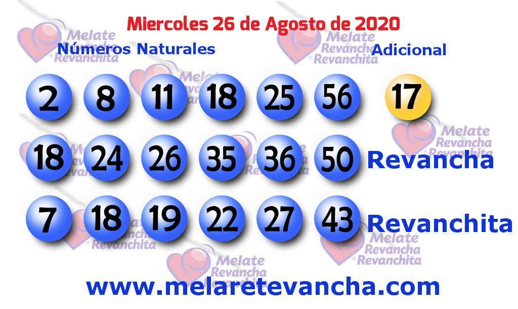Melate del 2020-08-26